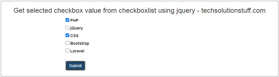 如何在Jquery中获取选中的复选框列表值-一点问答